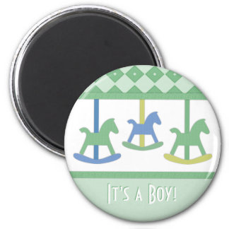 Baby Carousel Its a Boy Magnet