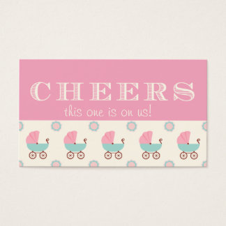 Baby Carriage Baby Shower Drink Ticket