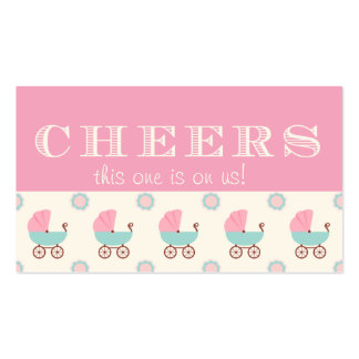 Baby Carriage Baby Shower Drink Ticket Business Card