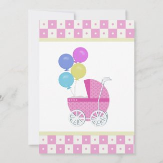 Baby Carriage: Baby Shower Invitations