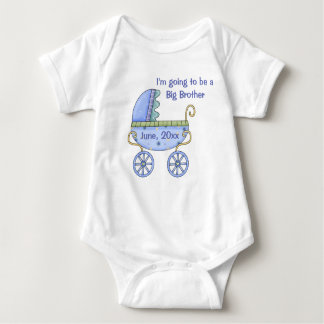 Baby Carriage Blue Infant Creeper