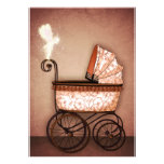 Baby Carriage Custom Invites