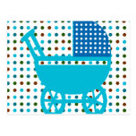 Baby Carriage Design Hip Gifts Postcards