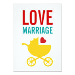 "Baby Carriage Gender Neutral Shower Invitation 5"" X 7"" Invitation Card"