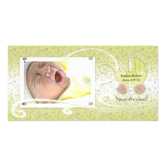Baby Carriage New Arrival Announcement Photo Card