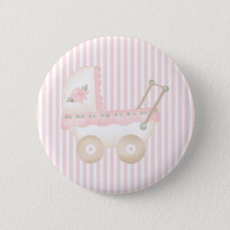 Baby Carriage Pink Pinback Button