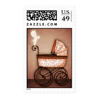 Baby Carriage Postage Stamp