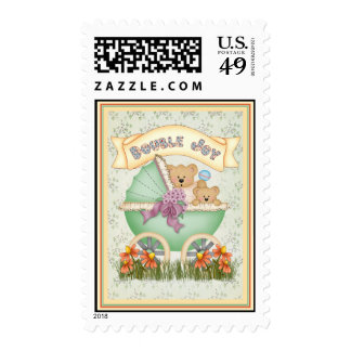 Baby Carriage Twins Stamp