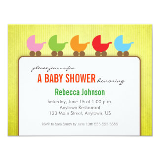 Baby Carriages Gender Neutral Baby Shower Card
