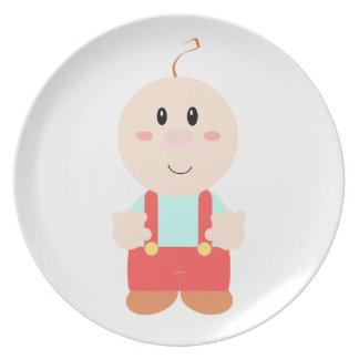 Baby cartoon dinner plate