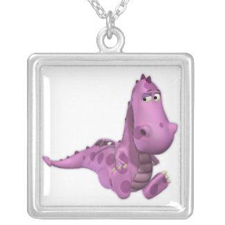 Baby Cartoon Dragons: Smoky Pendant