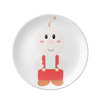 """Baby cartoon"" Porcelain Plates"