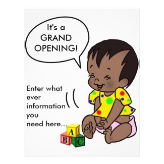 Baby Cartoon to Personalize - Flyer flyer