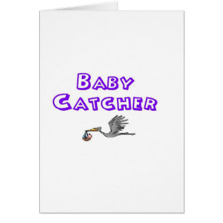baby catcher greeting card