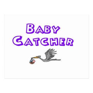 baby catcher postcard