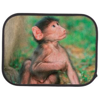 Baby Chacma Baboon (Papio Ursinus) Car Mat