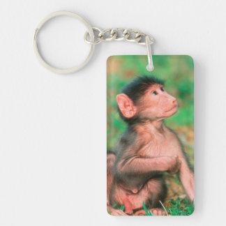 Baby Chacma Baboon (Papio Ursinus) Keychain