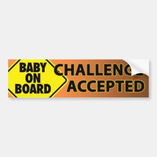 Baby Challenge 003 Bumper Sticker