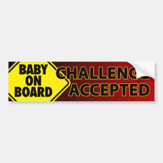 Baby Challenge 005 Bumper Sticker