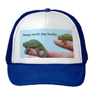 Baby chameleon perspective trucker hat