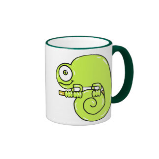 Baby Chameleon Ringer Coffee Mug