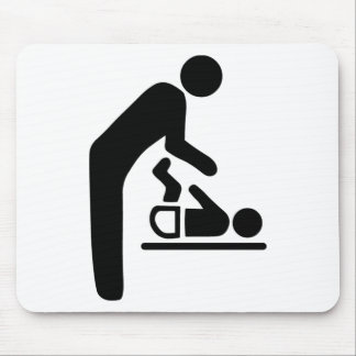 Baby Change Symbol Mouse Pad