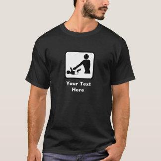 Baby Changing Image (Dark) -- Customizable T-Shirt