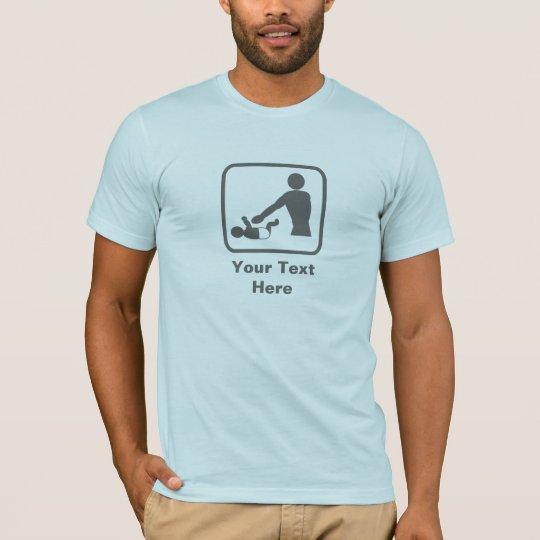 Baby Changing Image (Grey Logo) -- Customizable T-Shirt