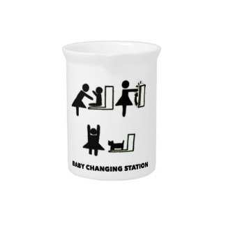 Baby Changing Station Beverage Pitchers