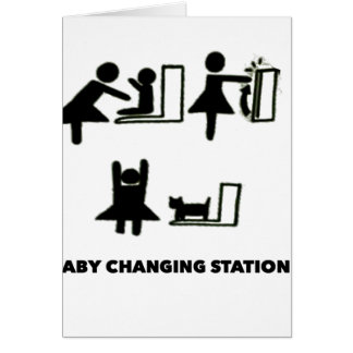 Baby Changing Station Card