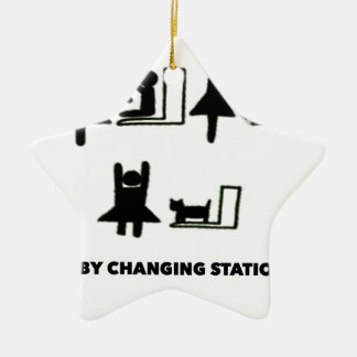 Baby Changing Station Ceramic Ornament