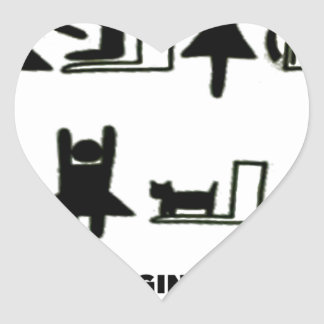 Baby Changing Station Heart Sticker