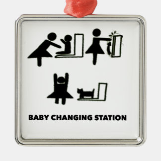 Baby Changing Station Metal Ornament