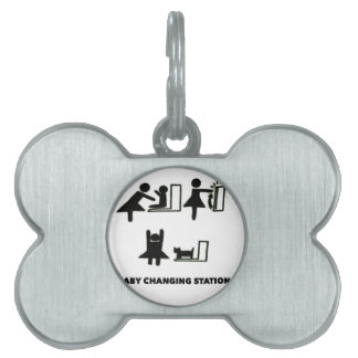 Baby Changing Station Pet Name Tag