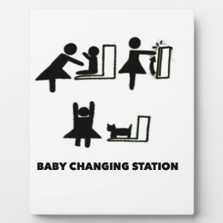 Baby Changing Station Plaque