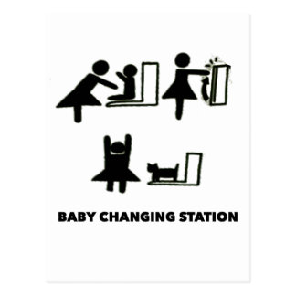 Baby Changing Station Postcard