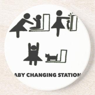 Baby Changing Station Sandstone Coaster