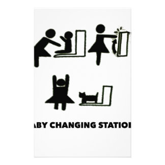 Baby Changing Station Stationery