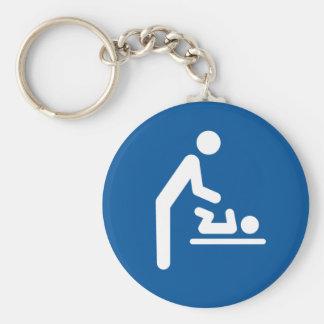 Baby changing station symbol keychain