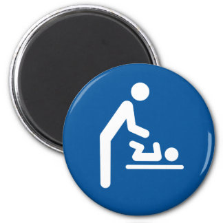Baby changing station symbol magnet