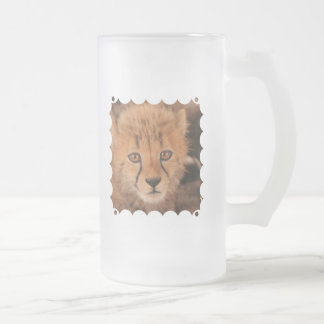 Baby Cheetah Frosted Beer Mug