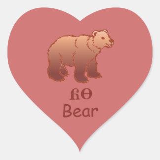 Baby Cherokee Bear Heart Sticker
