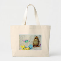 Baby Chick 2 Large Tote Bag