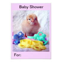 Baby Chick, Baby Shower Card