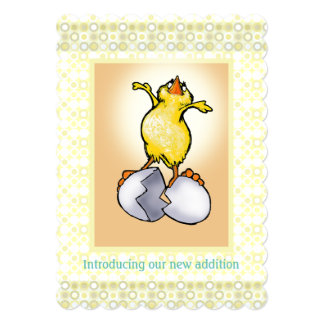 Baby chick birth announcement