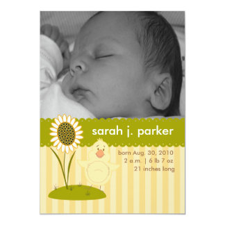 Baby Chick Birth Announcements