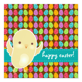 Baby Chick & Bold Eggs Card