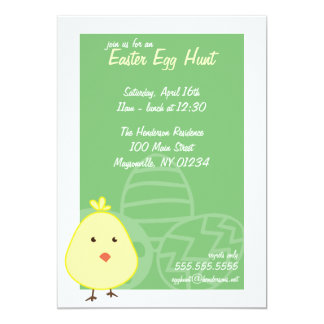 Baby Chick Easter Egg Hunt Invitations
