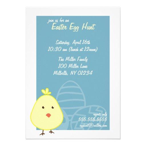 Baby Chick Easter Egg Hunt Invitations