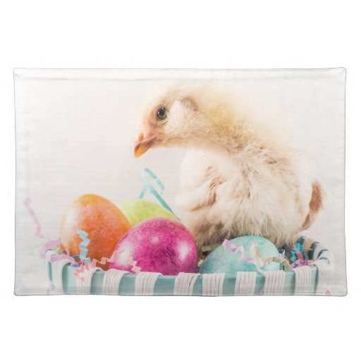 Baby Chick in Easter Basket Placemats